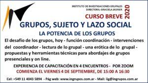 GRUPOS, SUJETO Y LAZO SOCIAL SOCIAL